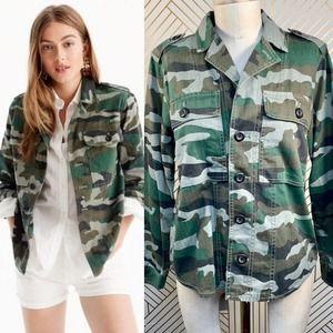 J. Crew Camouflage Utility Shirt-Jacket